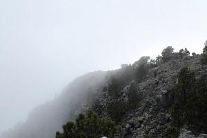 Niebla en el volcán